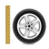 Metric / Inches Tire Size Converter